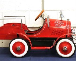 FAO Schwarz pedal car  fire truck
