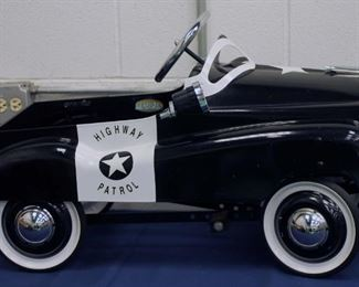 Highway patrol police pedal car