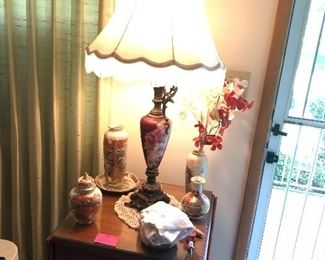 lamps, cherry end tables by Empire (Johnson City)
