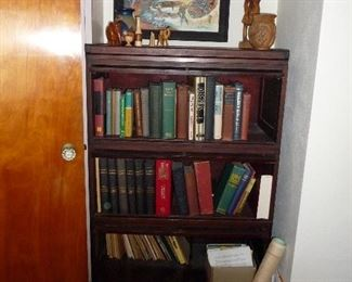 some souvenirs / barrister bookcase / Vintage  bibles and religious study as marked