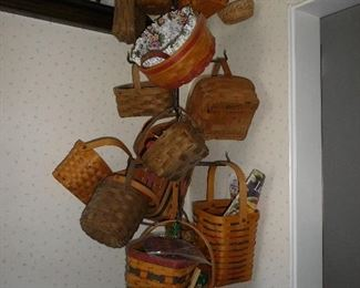 longaberger baskets  We also have a laundry hamper and laundry basket