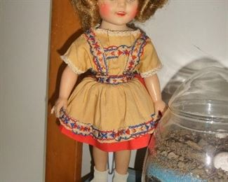 "Ideal 15"" Heidi Shirley Temple doll"