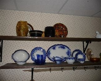 Flow blue dishes / pottery / etc