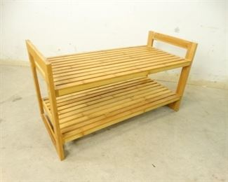 Lightweight, Bamboo Wood Dual Shelf