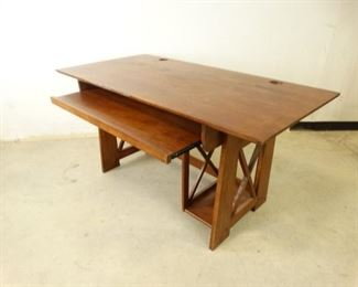 Solid Wood Office Desk Matching Wooden Chair