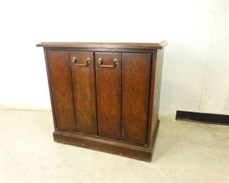 Vintage Accordian Door Cabinet