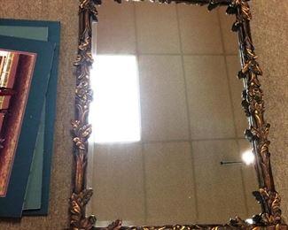 framed smaller mirror