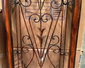 iron and wood decorative piece