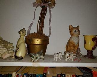 CATS CATS CATS! many cat figurines