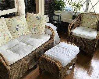 Rattan and wicker porch set