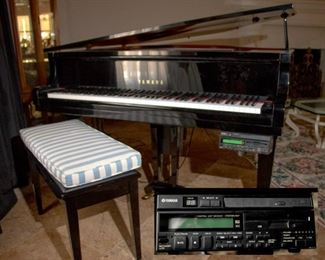 Yamaha Player Piano, CDs and floppies.