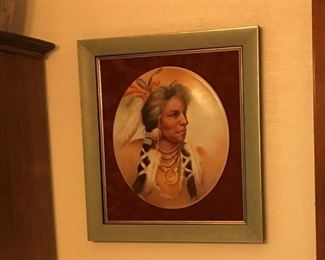 Native American china painting