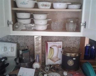 corning ware and misc