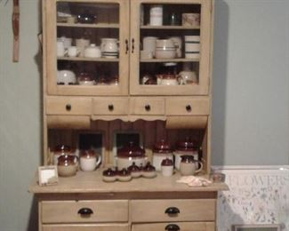 antique cabinet. hoosier style