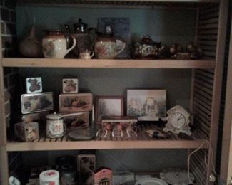 tins and painted pottery