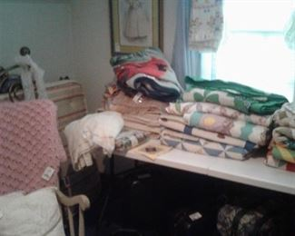 quilts and blankets, rocker