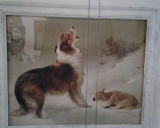 vintage collie and lamb pic