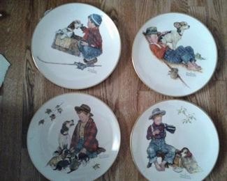 Norman Rockwell collector plates A Boy and His Dog