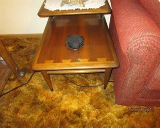 One of two matching Lane Mid Century Modern end tables