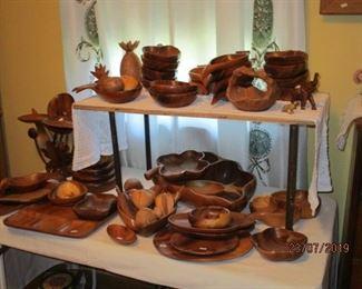 Teak and cedar and Monkeypod wood pieces