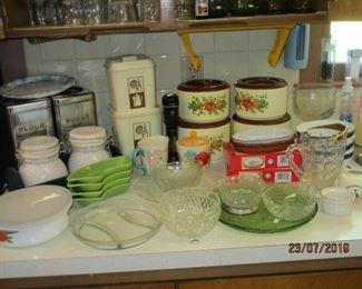 Mid century kitchenware