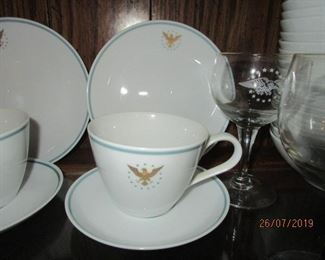 AIR FORCE ONE CUPS AND SAUCERS
