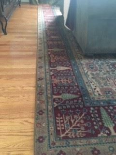 """Available for presale---$775.00                                         Samovar """"Persian Vase"""" Wool Area Rug  10 x 14"""
