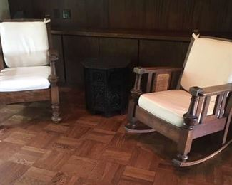 Sofa, rocking chair and chair set bought in Baton Rouge in 1953 in an antique store, in great condition
