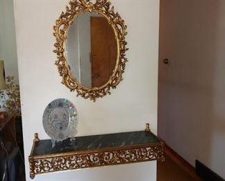 Living Room:  Mirror, Plate,