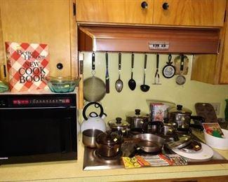 Kitchen:  Microwave, Pots & Pans
