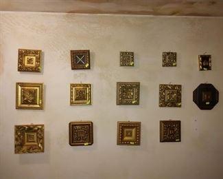 Basement Room Left:  Gold Squares (Varies Designs)