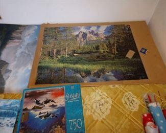 Basement Room Left:  Puzzles