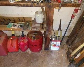 Garage:  Gas Cans