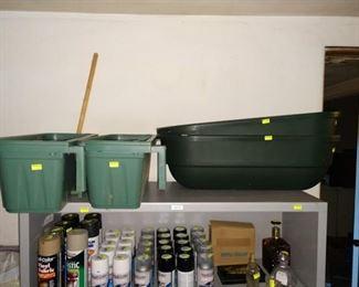 Garage:  Rubber Tubs