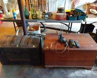 Garage:  Trunk, Wood Box