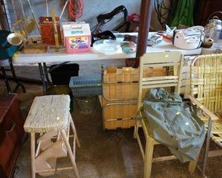 Garage:  Chairs, Stool,