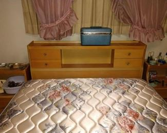 3rd Bedroom, Straight Back:  MCM Bed, Side Bed Tables, Carry Case