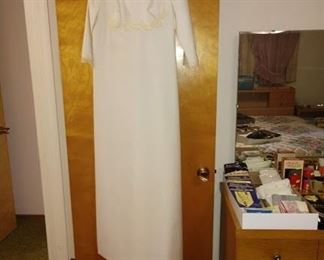 3rd Bedroom, Straight Back:  White Gown