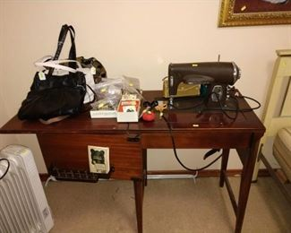 1st Bed Room Left:  Kenmore Sewing Machine, Heater