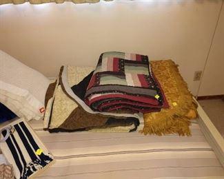 1st Bed Room Left:   Blankets