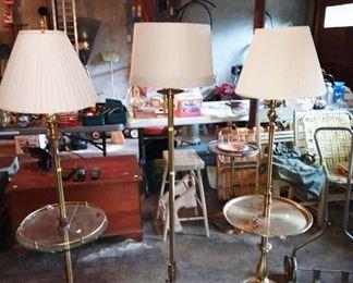 Garage:  3 Floor Lamps
