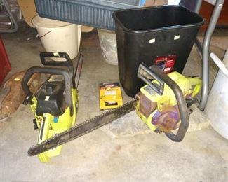 Garage: 2 Chain Saws (Working)