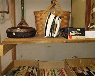 Wash Room Right: Books, Iron, Basket