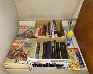 Wash Room Right:  Hot Rod Magazines, Books