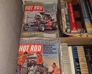 Wash Room Right:  Hot Rod Magazines