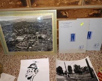 Living Room:  Seattle World's Fair Picture and First Stamp and Opening Ceremony Program