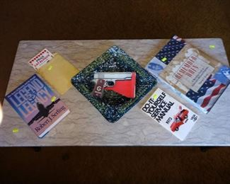 Living Room:  Books, Ash TRay, Oboy-Oberto Pop Gun