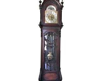 Vintage Mahogany Herschede Grandfather Clock