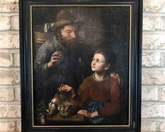 Original 17th Century Painting from European Artist.