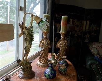 Figural Goddess lamp